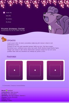Purple Vulpix by harleshinn