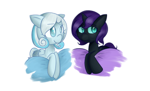 Two cuties of the fandom. by Skullbow09