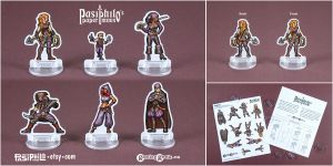 Rogues 2D 28mm Fantasy Roleplaying Game Miniatures by Pasiphilo