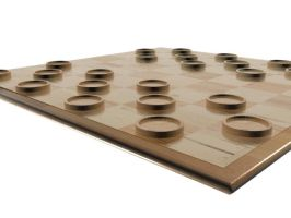 Simple Wood Checkers Set 2 by HopelessSoul13
