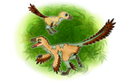 Junioraptor and Treeodon, shiny forms by ZeWqt
