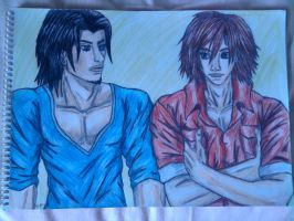 Genesis and Angeal casual by Laineyfantasy