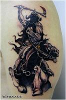 Frazetta tattoo by RobinCZ