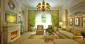 Design Interior Traditional Living Room by ValeryTkeshelashvili