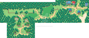 Twinleaf Town, Sandgem Town and Route 201 by sagaxxy