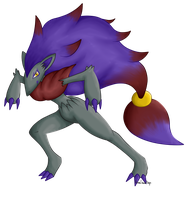 Shiny Zoroark by RandomSilentNinja