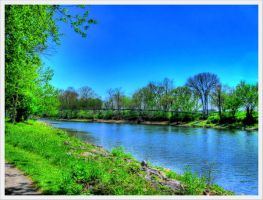 Park Scene - The River by barefootphotos
