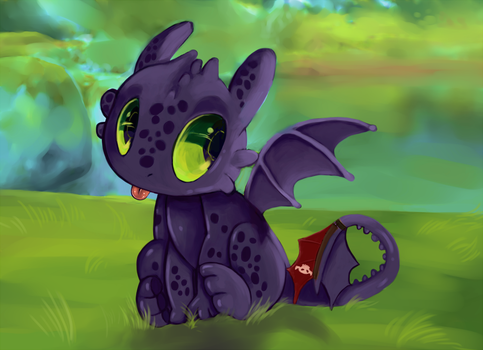 Toothless~ by Kam-Fox