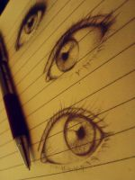 Eye Sketch II by nadzie