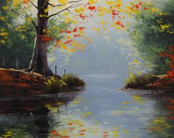 Fall Lake Colors by artsaus
