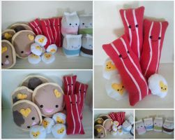 Breakfast Plush Collection by Jonisey