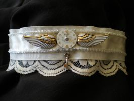 Goth Steampunk Wedding Choker by kamiiyu