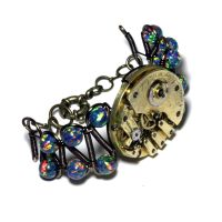 Steampunk Bracelet - Watch Movement - Lab Created by CatherinetteRings
