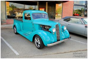 A Cool Blue Hot Rod Pickup by TheMan268