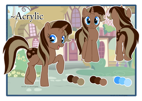 Arcylic Reference Sheet by Acrylicpony