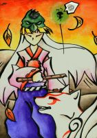 Amaterasu and Waka by Merinid-DE
