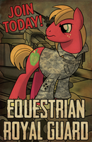 Commission: Equestrian Guard (Featured on EQD) by drawponies