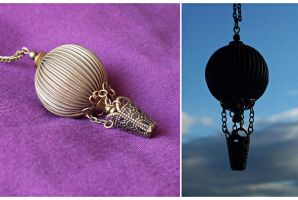 Hot Air Balloon Necklace by hrekkjavakaastarkort