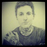 Oli Sykes: Portrait (Finished) by RedEyedDemon