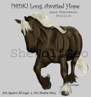 VHR: Black Palomino Draft by SheWolfGeo