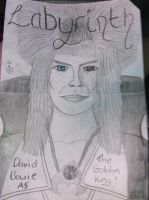 David Bowie as the gobin king (improved version) by noonfeather
