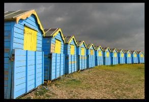 Beach Huts by parallel-pam