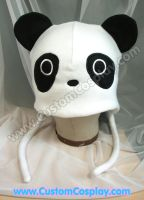Panda Hat with ear flaps by The-Cute-Storm