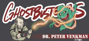 Venkman VS. Slimer by SingYourLife