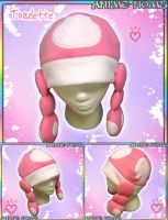 Toadette-Style Mushroom Hat by AnimeNomNoms