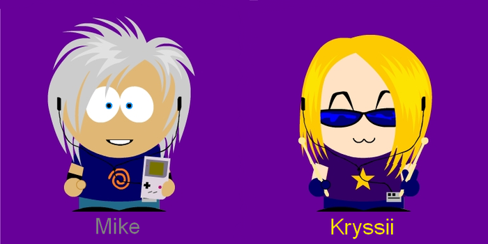Me and Kryssii - South Park by Mike3k9