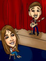 Performance Caricature 062412 by raccoon-eyes