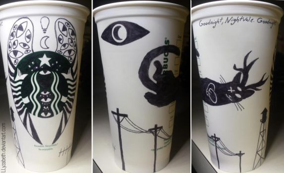 Welcome To Night Vale Starbucks Cup by Llyzabeth