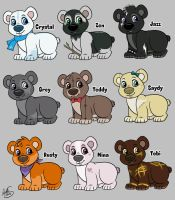 Bear Cub Adoptables 2 SOLD by Miss-Melis