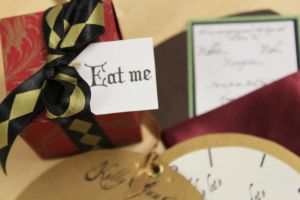 Alice in Wonderland Wedding Ensemble favor by FloydFlamingo
