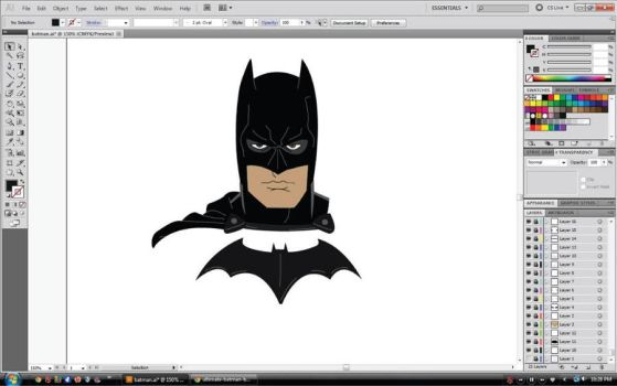 Batman WIP by SymbolicSin