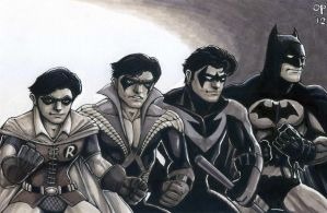 Dick Grayson Evolution by olybear