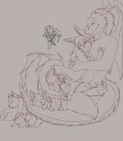 Our Family WIP by WolfRoxy
