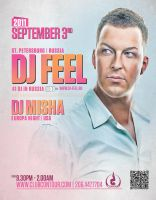 flyer for dj feel - russia by sounddecor
