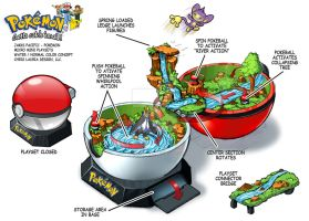 Pokemon Micro Mini Playset : Water_Normal by toymaker-cl