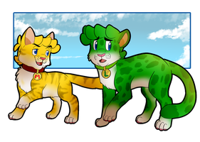 Mario and Luigi as Cats by PheonixBirdofFIre46