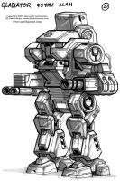 MechWarrior 4 Gladiator Front by Mecha-Zone