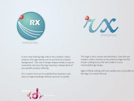 RX Enterprises Logo options. by vijay-dffrnt