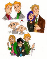 Harry Potter doodles by TheEndxTypeANIME