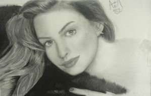 Anne Hathaway portrait by analuizantunes