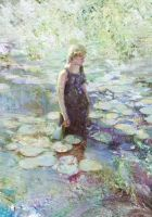 Girl with Water Lily by wawa3761