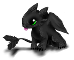 Baby toothless request by Thecopperbeast