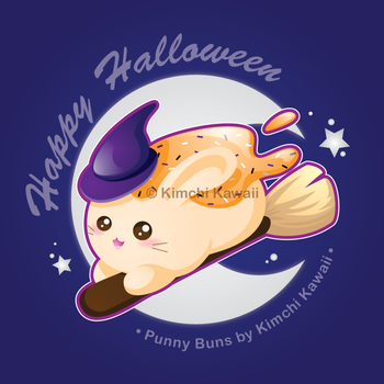 Halloween Witch Sweet Bunny by kimchikawaii