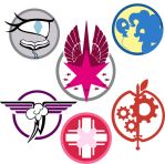 Fallout: Equestria Ministry Emblems by tomcullen