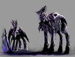 MLP Shadow golem pony and mage auction 60 closed by ElkaArt