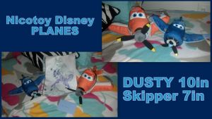 Nicotoy Disney Planes Dusty large and Skipper by Vesperwolfy87